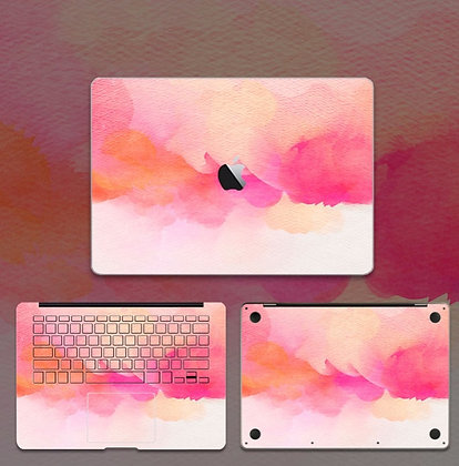apple macbook pro air retina touchbar 11 12 13 15 inch decal skin sticker pink art