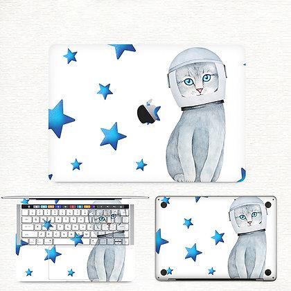 apple macbook pro air retina touchbar 11 12 13 15 inch decal skin sticker cat