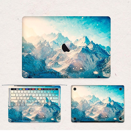 apple macbook pro air retina touchbar 11 12 13 15 inch decal skin sticker mountain hill