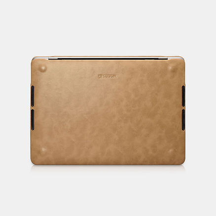 Apple macbook air pro retina touchbar 11 12 13 14 15 16 inch premium high quality grade microfibre brown leather case cover protector