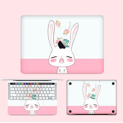 apple macbook pro air retina touchbar 11 12 13 15 inch decal skin sticker rabbit