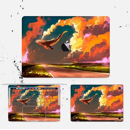 apple macbook pro air retina touchbar 11 12 13 15 inch decal skin sticker whale