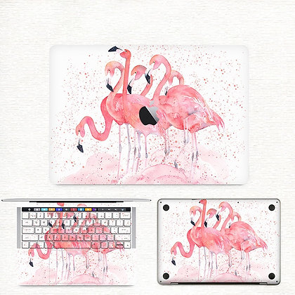 apple macbook pro air retina touchbar 11 12 13 15 inch decal skin sticker flamingo