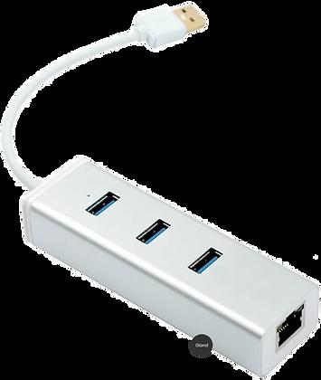 Macbook Thunderbolt USB 3.0 + HUB adapter (silver)