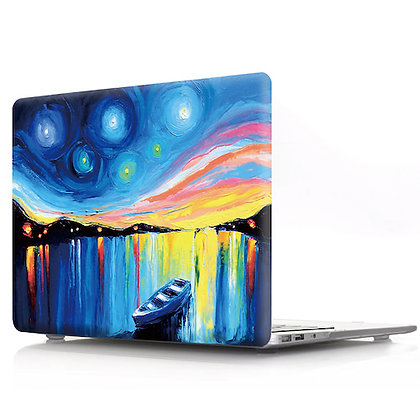boat oil painting macbook air pro retina 11 12 13 15 design case cover malaysia