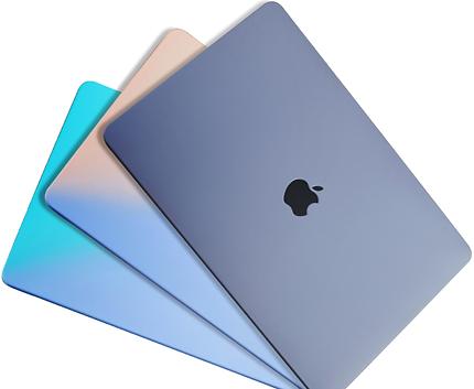 apple macbook air pro retina touchbar 11 12 13 14 15 16 inch gradient blue pink case cover protector skin