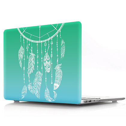 gradient green blue dream catcher macbook air pro retina 11 12 13 15 case cover malaysia