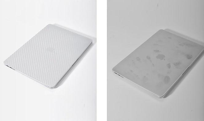 Apple macbook air pro retina touchbar m1 11 12 13 14 15 16 inch white carbon case cover protector anti fingerprint