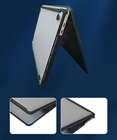 Apple macbook air pro retina touchbar 11 12 13 14 15 16 inch ultra safe dent shock drop proof case cover protector shell