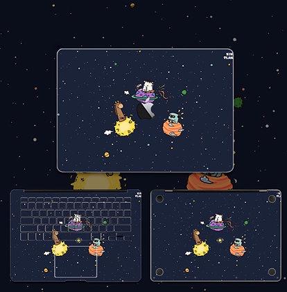apple macbook pro air retina touchbar 11 12 13 15 inch decal skin sticker space