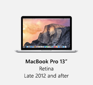 """Macbook Pro 13"""" Retina Late 2012 and after"""