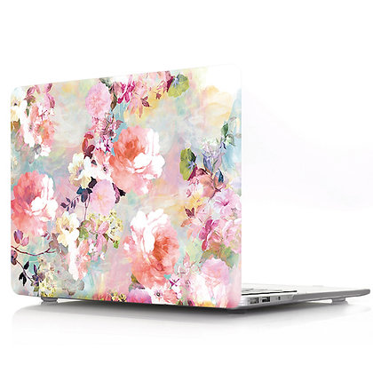 water color pink floral flower macbook air pro retina 11 12 13 15 case cover malaysia