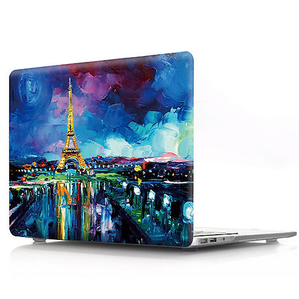 oil painting Paris eiffel tower macbook air pro retina 11 12 13 15 design case cover malaysia