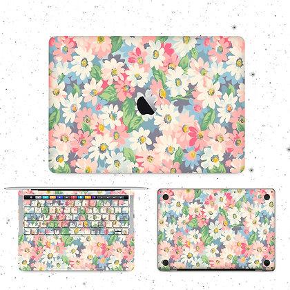apple macbook pro air retina touchbar 11 12 13 15 inch decal skin sticker flower floral