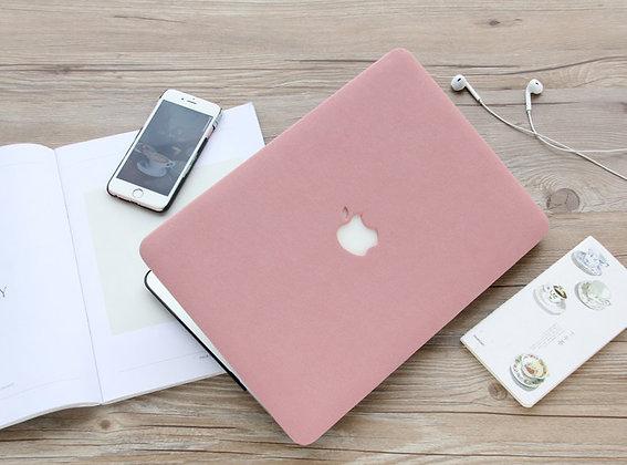 apple macbook air pro retina touchbar 11 12 13 14 15 16 inch m1 pink matt leather cover protector malaysia
