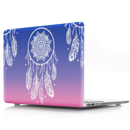 gradient purple pink dream catcher macbook air pro retina 11 12 13 15 case cover malaysia