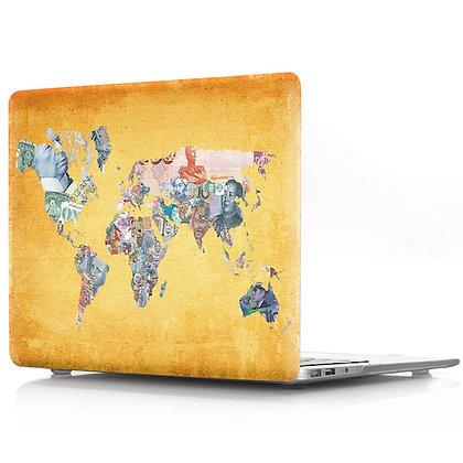gold world map macbook air pro retina 11 12 13 15 design case cover malaysia