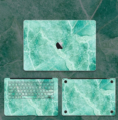 apple macbook pro air retina touchbar 11 12 13 15 inch decal skin sticker green marble