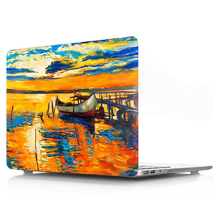 oil painting boat macbook air pro retina 11 12 13 15 design case cover malaysia