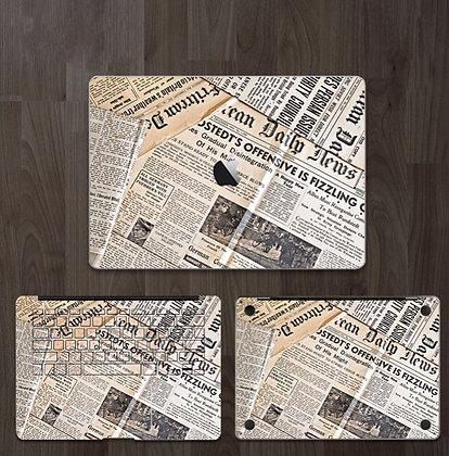 apple macbook pro air retina touchbar 11 12 13 15 inch decal skin sticker newspaper