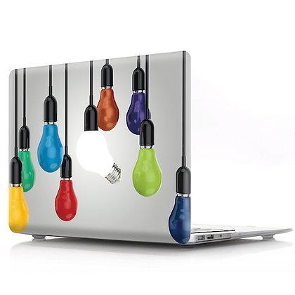 rainbow light bulb macbook air pro retina 11 12 13 15 design case cover malaysia