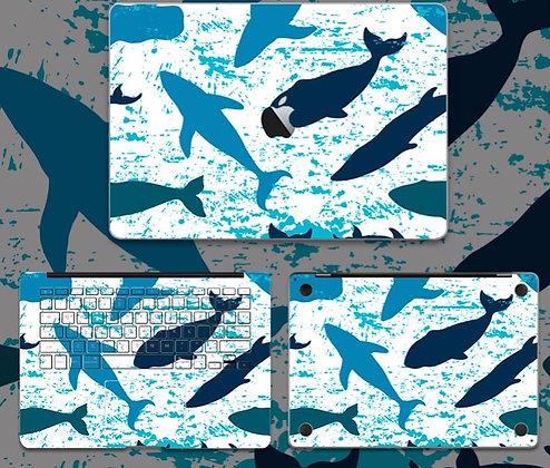 apple macbook pro air retina touchbar 11 12 13 15 inch decal skin sticker dolphin