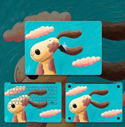apple macbook pro air retina touchbar 11 12 13 15 inch decal skin sticker dog