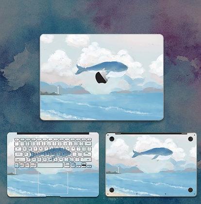 apple macbook pro air retina touchbar 11 12 13 15 inch decal skin sticker flying whale