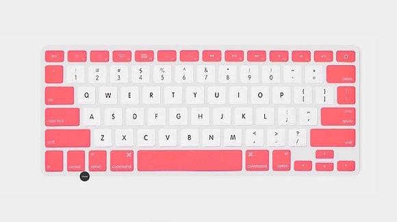 Peach pink & white