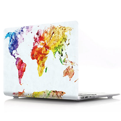 rainbow world map macbook air pro retina 11 12 13 15 design case cover malaysia