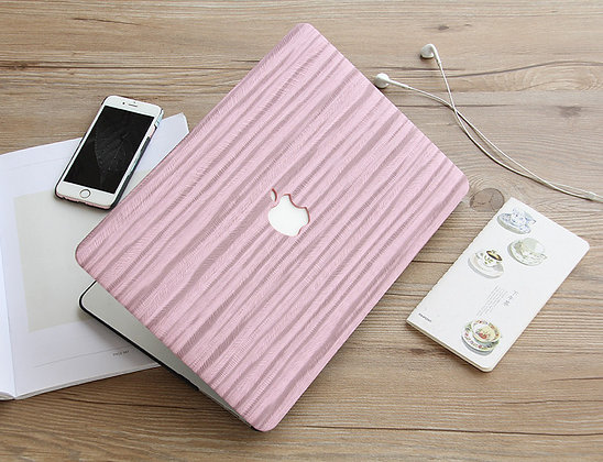 pink textile Wood macbook air pro retina 11 12 13 15 case cover malaysia
