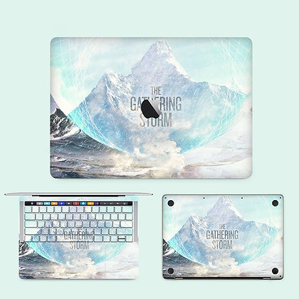 apple macbook pro air retina touchbar 11 12 13 15 inch decal skin sticker the gathering storm hill mountain