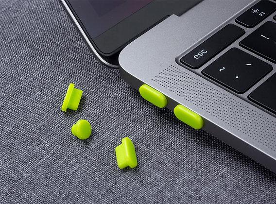 "Apple macbook air pro retina touchbar 11 12 13 14 15 16"" inch green silicone dust plug cap malaysia"