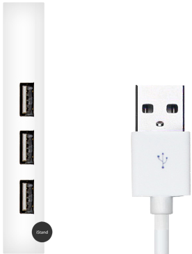 Ordinary white USB 2.0 + Hub
