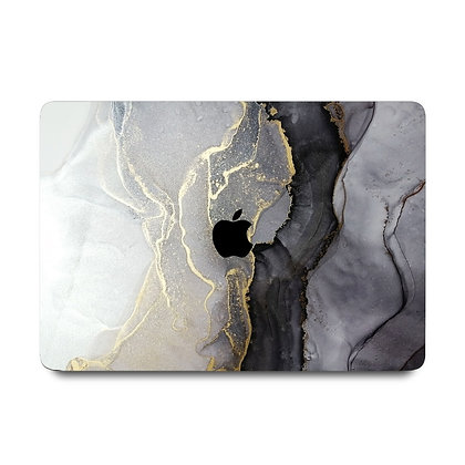 """apple macbook air pro retina touchbar 11 12 13 14 15 16"""" inch white gold black marble case cover protector malaysia"""
