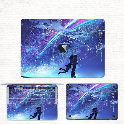 apple macbook pro air retina touchbar 11 12 13 15 inch decal skin sticker your name 你的名字
