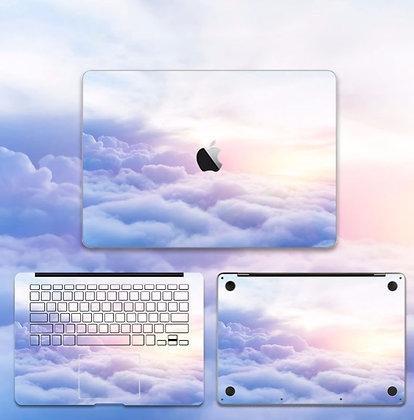apple macbook pro air retina touchbar 11 12 13 15 inch decal skin sticker purple blue sky cloud