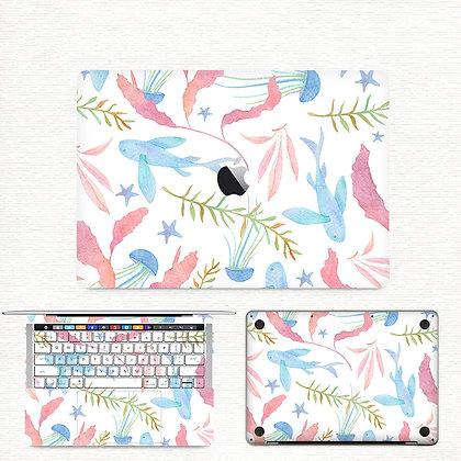 apple macbook pro air retina touchbar 11 12 13 15 inch decal skin sticker cartoon