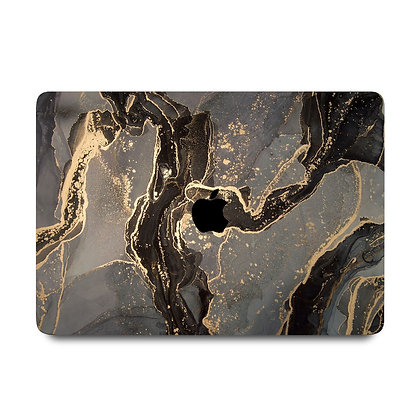 """apple macbook air pro retina touchbar 11 12 13 14 15 16"""" inch black gold marble case cover protector malaysia"""