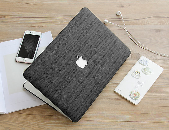 black texture Wood macbook air pro retina 11 12 13 15 case cover malaysia