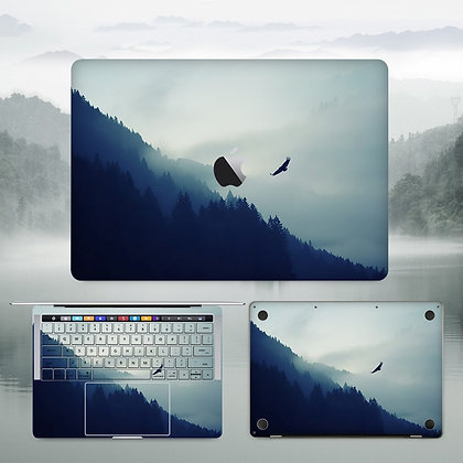 apple macbook pro air retina touchbar 11 12 13 15 inch decal skin sticker blue mountain hill