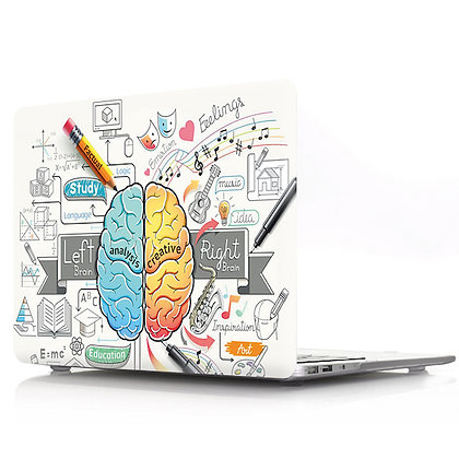 left blue right yellow brain macbook air pro retina 11 12 13 15 case cover malaysia