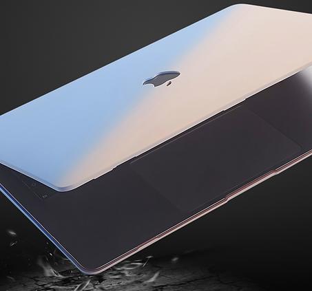 apple macbook air pro retina touchbar 11 12 13 14 15 16 inch gradient blue pink case cover protector skin drop