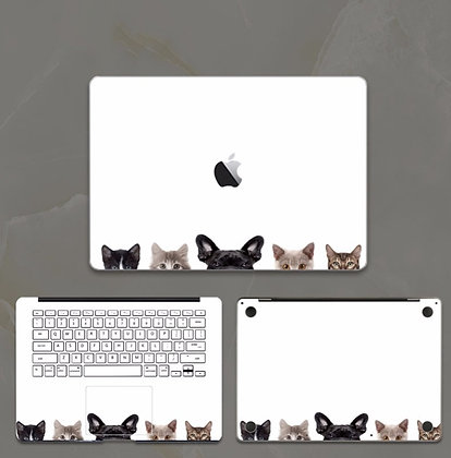 apple macbook pro air retina touchbar 11 12 13 15 inch decal skin sticker dogs