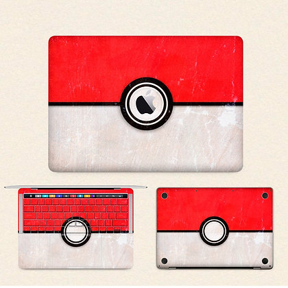 apple macbook pro air retina touchbar 11 12 13 15 inch decal skin sticker pokemon