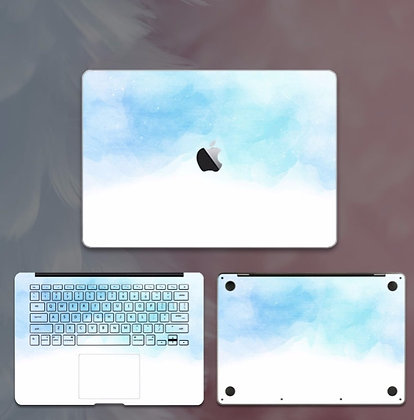 apple macbook pro air retina touchbar 11 12 13 15 inch decal skin sticker blue cloud sky