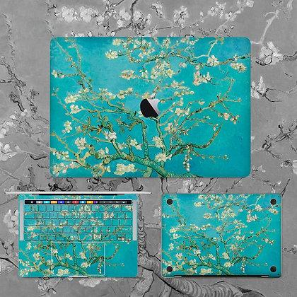 apple macbook pro air retina touchbar 11 12 13 15 inch decal skin sticker almond blossom