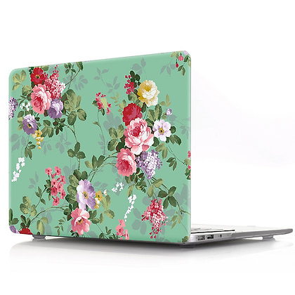 green peony floral flower macbook air pro retina 11 12 13 15 case cover malaysia