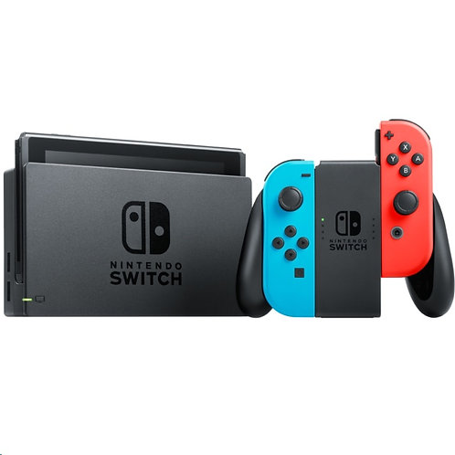 Nintendo Switch Console 2nd Generation, Neon Blue and Red