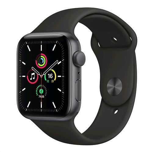 Apple Watch SE 44mm  Space Gray Aluminium Black Sport Band